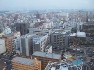 岡山のマンション風景